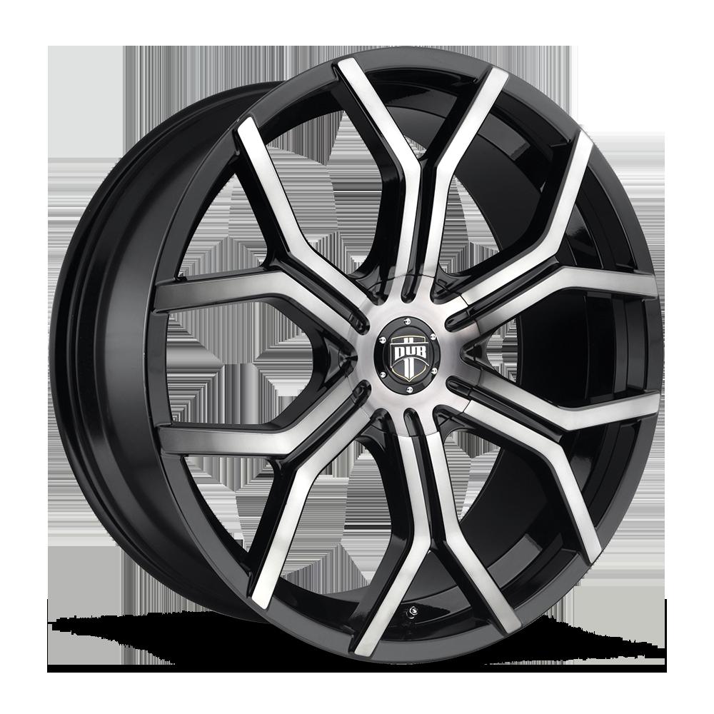 22 Marquee Wheels 5334 Gloss Black Machined Rims #MQ106-1